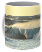 Big Surf At Sunset Coffee Mug
