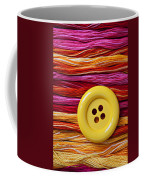 Big Yellow Button  Coffee Mug