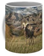 Bighorn Ram In The Badlands Coffee Mug