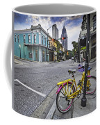Bike And 3 Georges In Mobile Alabama Coffee Mug