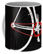 Bike In Black White And Red No 2 Coffee Mug by Ben and Raisa Gertsberg