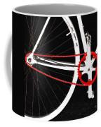 Bike In Black White And Red No 2 Coffee Mug by Ben and Raisa Gertsberg
