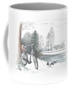 Bike In The Snow Coffee Mug