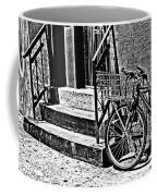 Bike In The Sun Black And White Coffee Mug