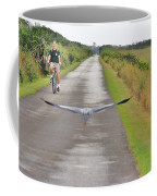 Biker And The Bird Coffee Mug
