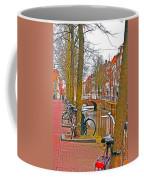 Bikes And Canals Coffee Mug