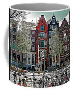 Bikes Everywhere In Amsterdam-netherlands Coffee Mug