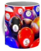 Billiard Balls On The Table Coffee Mug