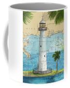 Biloxi Lighthouse Ms Nautical Chart Art Cathy Peek Coffee Mug