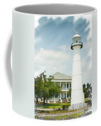 Biloxi Lighthouse Sketch Photo Coffee Mug