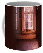Binoculars On Windowsill Coffee Mug