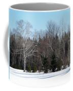 Birch And Evergreen Coffee Mug