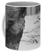 Birch Bark And Snow In Black And White Coffee Mug