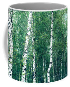 Birch Forest - Green Coffee Mug