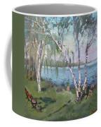 Birch Trees By The River Coffee Mug