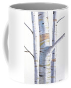 Birch Trees In Three Coffee Mug