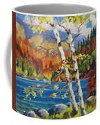 Birches By The Lake Coffee Mug