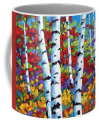 Birches In Abstract By Prankearts Coffee Mug by Richard T Pranke