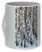 Birches In The Winter Coffee Mug
