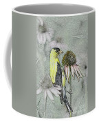 Bird Eating Seeds For One Digital Art Coffee Mug