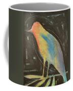 Bird In Gilded Frame Sans Frame Coffee Mug