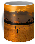 Birds And Bouys Sunrise Coffee Mug