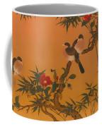 Birds Bamboo And Camellias Coffee Mug