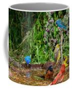 Birds Bathing Coffee Mug