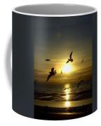 Birds Gathering At Sunset Coffee Mug
