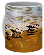 Birds In The Surf Coffee Mug