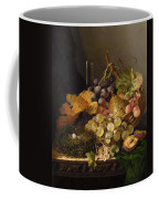 Birds Nest Butterfly And Cherries Coffee Mug by Edward Ladell