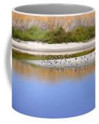 Birds On The River Bank Coffee Mug