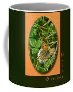 Birthday Greeting Card - American Copper Butterfly Coffee Mug