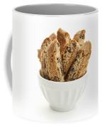 Biscotti Cookies In Bowl Coffee Mug