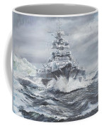 Bismarck Off Greenland Coast  Coffee Mug