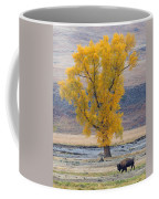 Bison And Cottonwood Coffee Mug