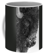 Bison In Black And White Coffee Mug