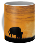 Bison Sunset Coffee Mug