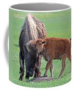 Bison With Young Calf Coffee Mug