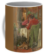 Bistro In Beziers, 2007 Pastel On Paper Coffee Mug