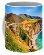 Bixby Creek Bridge Oil On Canvas Coffee Mug