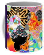 Bizzarro Colorful Psychedelic Floral Abstract Coffee Mug