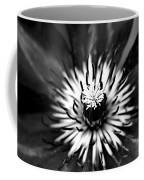 Black And White Clematis Coffee Mug