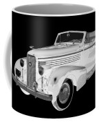 Black An White 1938 Cadillac Lasalle Pop Art Coffee Mug