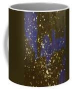 Black And Blue Splatter Coffee Mug