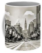 Black And White Benjamin Franklin Parkway Coffee Mug