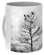 Black And White Blackbirds  Coffee Mug