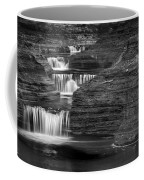 Black And White Cascade Coffee Mug