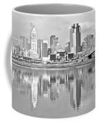Black And White Cincinnati Panoramic Coffee Mug