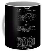 Black And White Corvette Patent Coffee Mug